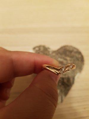 Letzte Reduzierung Echtschmuck Ring 585er Rosegold Diamanten 0,11ct Gr.58 Herzform Neu