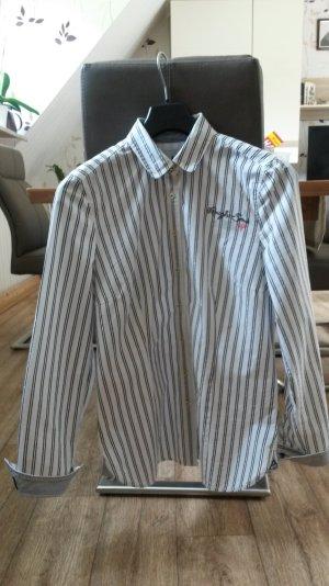 !!Letzte Reduzierung !!%% Gaastra Bluse weiß mit grauen und silbernen Streifen