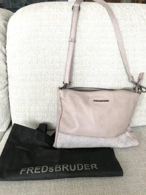 letzte Reduzierung! geht dann mit zum nächsten Flohmarkt... FREDsBRUDER - Schultertasche Leder - mauve - Vintage Style