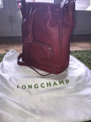 Longchamp Pouch Bag red leather
