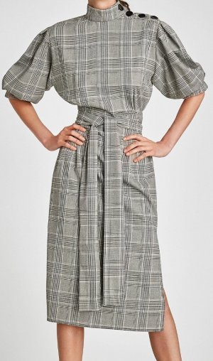 LETZTE REDUZIERUNG !!! Zara Kleid kariert Business Dress NEU M 36 Karo Blogger Trend Item