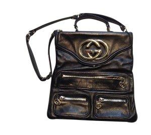 LETZTER PREIS !!!   100% ORIGINAL     Handtasche GUCCI  Kaum benutzt; Schwarz mit Gold - Tasche im Retro-Stil