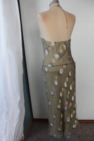 letzter Preis! 100% Seidenkleid Kleid Midikleid Coast Gr. 36 UK10 grün Punkte Seide Sommerkleid