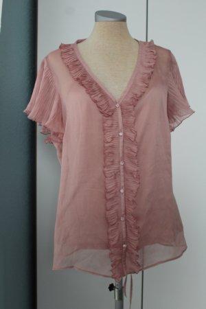 Letzter Preis!!! 2-1 Set Trägertop + Chiffon kurzarm Bluse rosa rose Gr UK 16 EUR 44 XL Debenhams