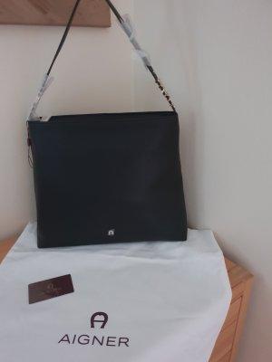 Aigner Handbag black-gold-colored