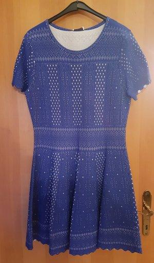 Alexander McQueen Dress white-cornflower blue