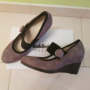 Baldinini Pumps met sleehak zwart-grijs-bruin