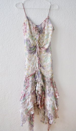 LETZTER PREIS Ballkleid Abendkleid Abiball Hochzeit Romantisch Volants Pastell XS 36 NP 400€
