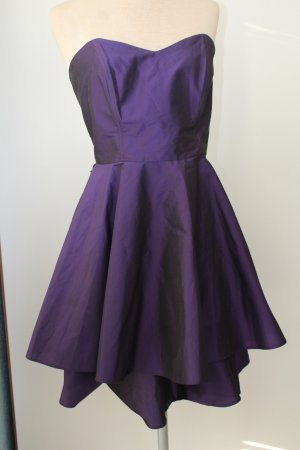Robe chiffon bleu violet
