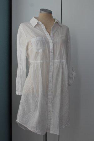 Letzter Preis!!! Baumwolle weiß New Look Tunika Bluse Oberteil Gr. 10 38
