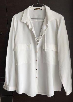 LETZTER PREIS !!!  Bluse Safari-Style Farbe weiß Gr. 42/44  XL