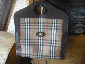 Letzter PREIS!Burberry´s HandTasche Vintage Shopper Nova  Leintuch/Leder gebr.