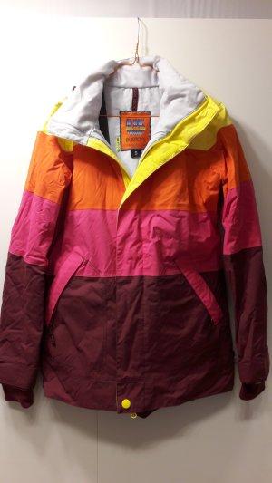 Burton Ski Snowboard Jacke Eclipse pink weinrot orange gelb Gr. S