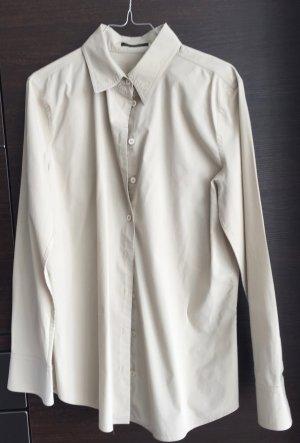 LETZTER PREIS !!!  Business Hemd-Bluse grau/beige GR. 40 STRENESSE  mit Elastane tailliert