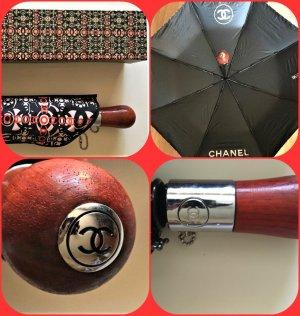 Chanel Paraguas plegable multicolor tejido mezclado