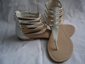 Roman Sandals white-gold-colored imitation leather