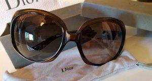 Christian Dior Gafas de sol redondas color bronce-marrón-negro acetato