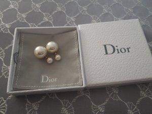 Dior Pendiente color oro-blanco puro
