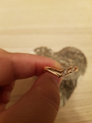 Letzter Preis Echtschmuck Ring 585er Rosegold Diamanten 0,11ct Gr.58 Herzform Neu