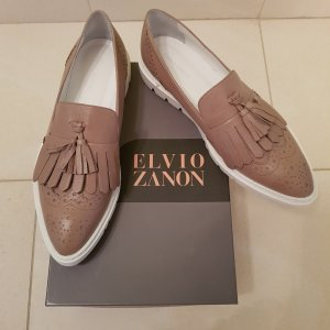 Elvio Zanon Slippers white-grey brown