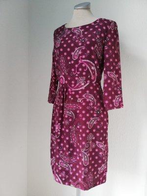 Letzter Preis! Etuikleid Business Büro langarm Kleid Gr. 34 XS Herbstkleid langarm goa Paisley Paisleymuster