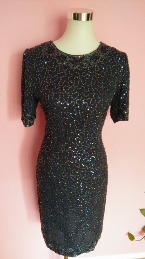 Robe à paillettes multicolore