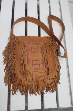 Sac à franges brun sable-marron clair