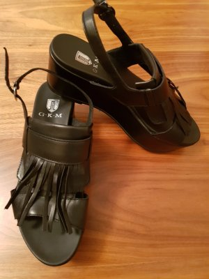 G.K.M. Plateauzool sandalen zwart