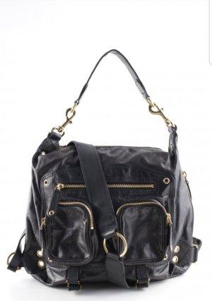 letzter Preis # Gucci - Lederhandtasche schwarz mit goldener Hardware