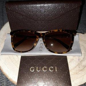 Gucci Hoekige zonnebril bruin-donkerbruin
