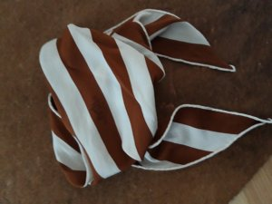 Hermès Kerchief cognac-coloured-natural white