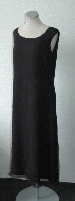 Letzter Preis!!! Hobbs Kleid Marilyn Anselm 100% Seide schwarz Etuikleid lang UK 14 EUR 40