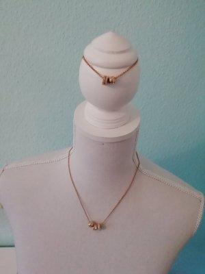 Swarovski Cadena de eslabón color plata-color oro