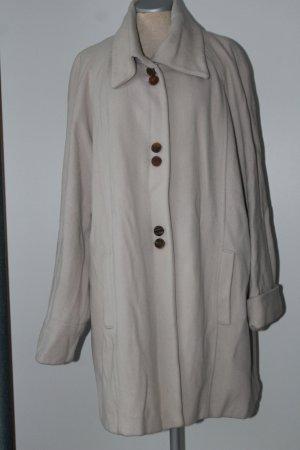 Letzter Preis! hochwertiger Mantel Langarm Wallis beige Gr. 12 Wolle+Cashmere+Nylon A-Linie
