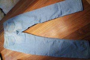 H&M Vaquero de talle alto azul celeste-azul pálido