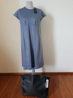 Letzter Preis Jil Sander Navy Baumwollkleid blaugrau Gr. 44 Neu mit Etikett