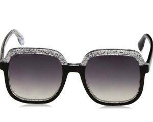 Letzter Preis Jimmy Choo Sonnenbrille schwarz silber Glitter Neu mit Etikett