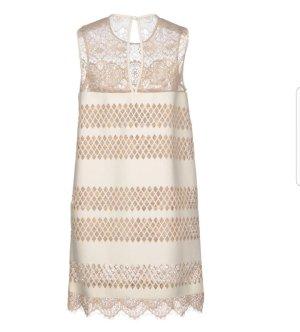 letzter Preis # Just Cavalli - Roberto Cavalli - Kleid aus Echtleder u zarter Spitze