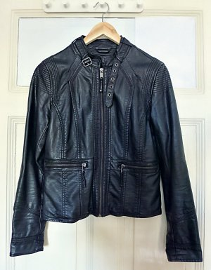 Ann Christine Leather Jacket black polyurethane