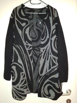 Letzter Preis Luisa Cerano Luxus Merino Wolljacke grau schwarz Gr.42 Neu