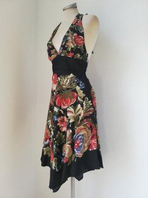 Letzter Preis! Mango Neckholderkleid Neckholder Kleid Zipfelkleid Gr. XS 34 Retro schwarz neu