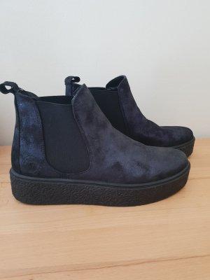 Marco Tozzi Scarpina di lana nero-blu scuro