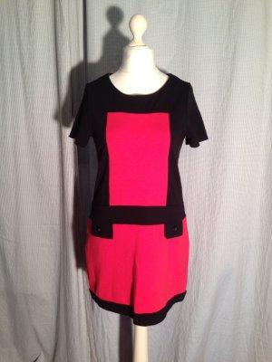 Letzter Preis!!! Minikleid Kurzarmkleid Retro 60er rot schwarz
