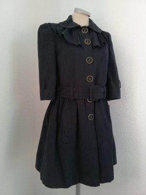 Letzter Preis! Miss Selfridge Gr. UK 8 EUR 36 S blau Mantel kawaii Lolita 3/4 Arm halblang gerüscht