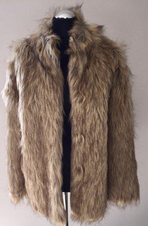 Asos Giacca di pelliccia color cammello-beige chiaro