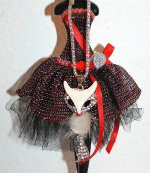 LETZTER PREIS ; NUR BIS ZUM WOCHENENDE !!! Blogger Kette Fuchs Glitter Kette