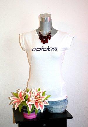 LETZTER PREIS; NUR FÜR KURZE ZEIT !!!! addidas Shirt gr. 36/38 Tshirt Top Weiß