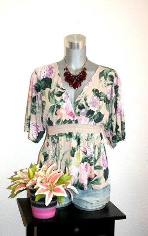 H&M Camisa de ganchillo multicolor