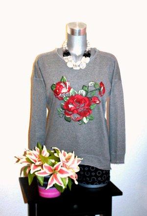 LETZTER PREIS; NUR FÜR KURZE ZEIT !!!! Oversize Long Pullover Rosen gr.36/38