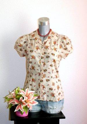 LETZTER PREIS !!!! NUR FÜR KURZE ZEIT !!!! Romantic Design Flower Bluse Gr. 38/40